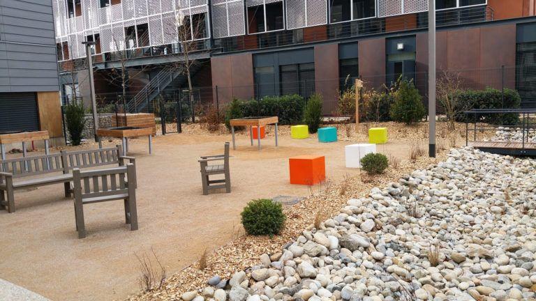Parcours de santé extérieur au sein de l'EHPAD Les Girondines
