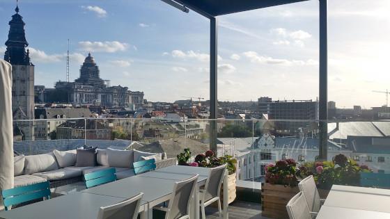 Toit terrasse de l'EHPAD Maison Vesale à Bruxelles en Belgique