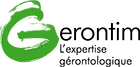 Logo français Gerontim avec baseline 140x67